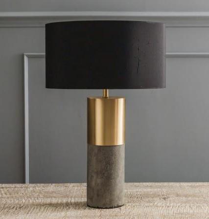 Conrete and Brass Lamp