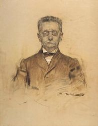 Ramon Casas 1909 Charcoal and Pastel